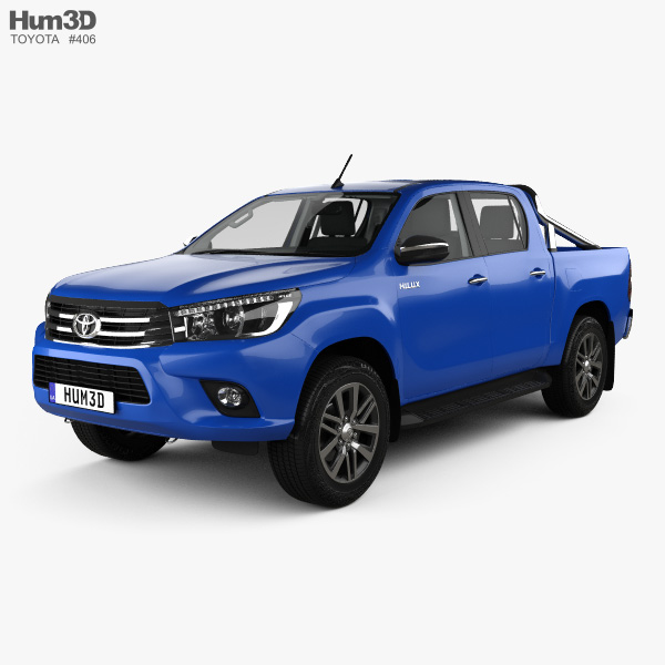 Toyota Hilux Double Cab SR5 with HQ interior 2015 3D model