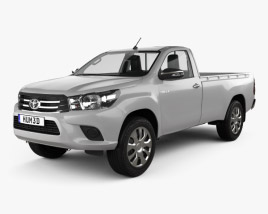3D model of Toyota Hilux Single Cab SR with HQ interior 2015