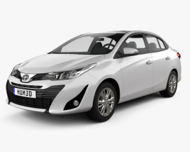3D model of Toyota Vios 2018