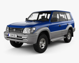 3D model of Toyota Land Cruiser Prado 5-door 1999