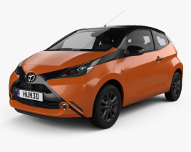 3D model of Toyota Aygo x-cite 3-door 2014