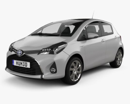 3D model of Toyota Yaris Hybrid 5-door 2015
