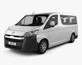 3D model of Toyota Hiace Passenger Van L1H1 Deluxe 2019