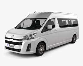 3D model of Toyota Hiace Passenger Van L2H2 GL 2019