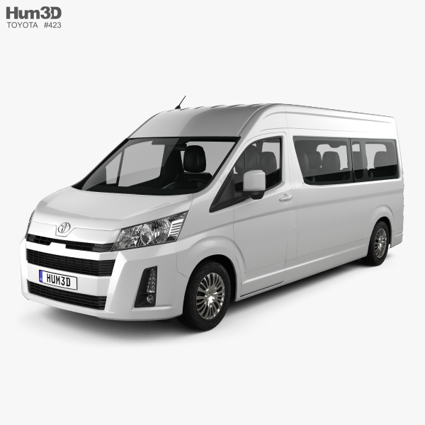 Toyota Hiace Passenger Van L2H2 GL 2019 3D model
