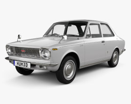 3D model of Toyota Corolla 2-door sedan 1966