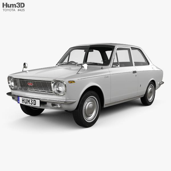 Toyota Corolla 2-door sedan 1966 3D model