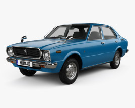 3D model of Toyota Corolla 4-door sedan 1974