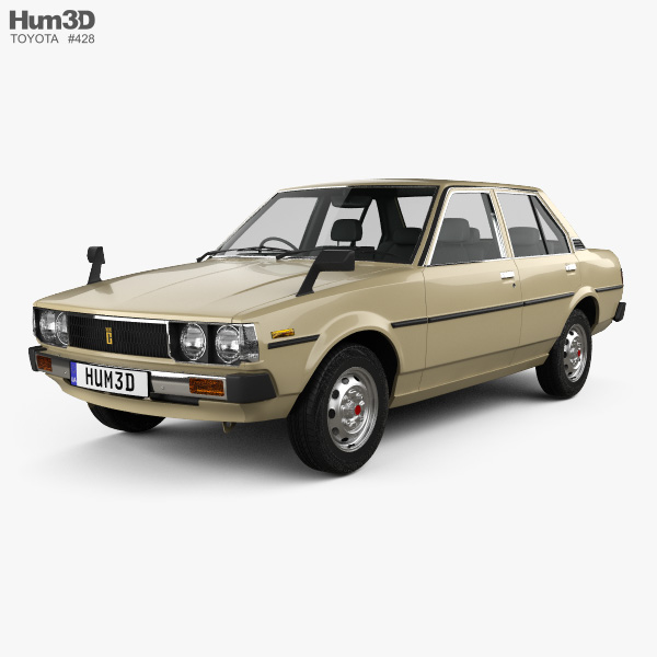 Toyota Corolla sedan 1979 3D model