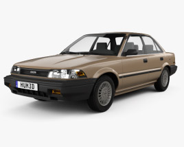 3D model of Toyota Corolla sedan 1987