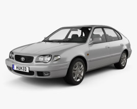 3D model of Toyota Corolla 5-door 1999