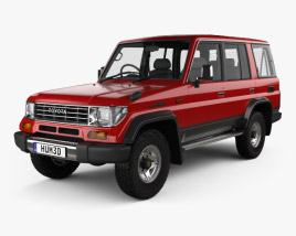 3D model of Toyota Land Cruiser Prado Station Wagon SX 1993