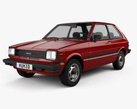 3D model of Toyota Starlet 1982