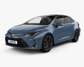 3D model of Toyota Corolla Hybrid sedan 2019