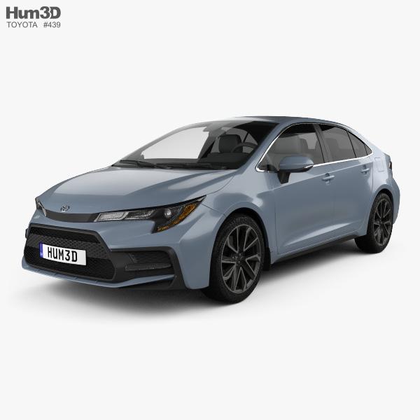Toyota Corolla XSE US-spec sedan 2019 3D model