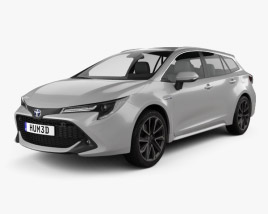 3D model of Toyota Corolla Touring Sports Hybrid 2019