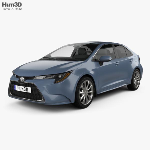 Toyota Corolla XLE US-spec sedan 2019 3D model