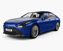 3D model of Toyota Mirai 2019