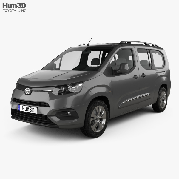 3D model of Toyota ProAce City Verso L2 2019