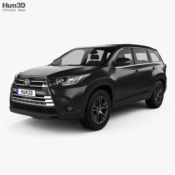 Toyota Highlander LEplus 2016 3D model