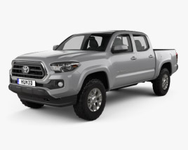 3D model of Toyota Tacoma Double Cab Short Bed SR5 2014