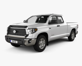 3D model of Toyota Tundra Double Cab SR5 2013