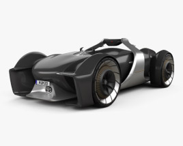3D model of Toyota e-Racer 2019