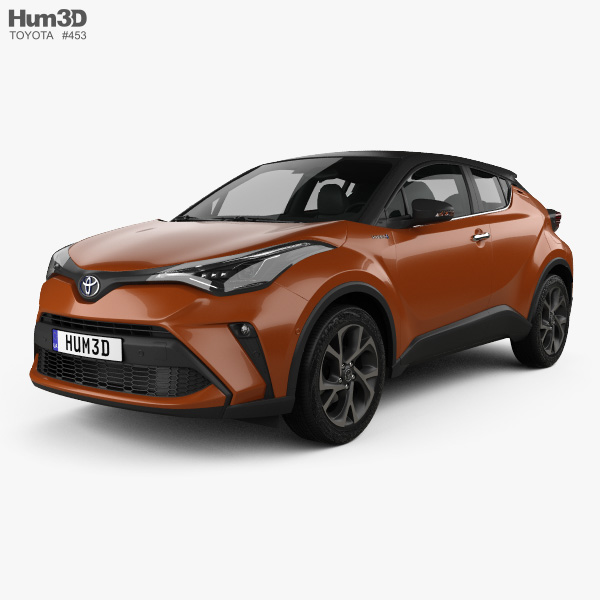 3D model of Toyota C-HR 2020