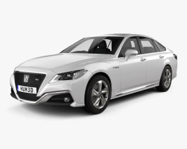 3D model of Toyota Crown RS Advance with HQ interior 2018