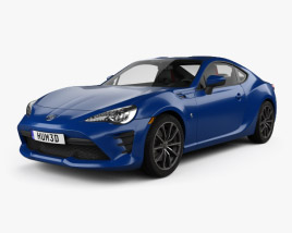 3D model of Toyota GT86 US-spec with HQ interior 2017