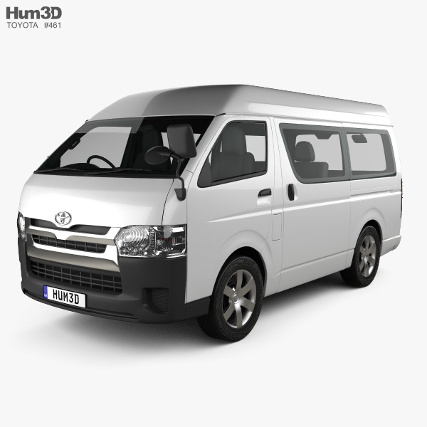 Toyota Hiace Passenger Van L1H3 DX RHD with HQ interior 2013 3D model
