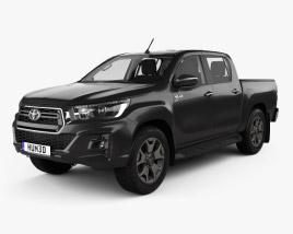 3D model of Toyota Hilux Double Cab L-edition with HQ interior 2019