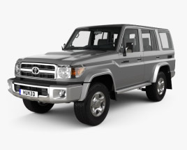 3D model of Toyota Land Cruiser 5-door with HQ interior 2007