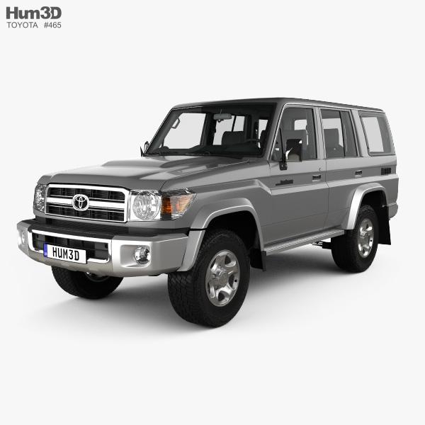 Toyota Land Cruiser 5-door with HQ interior 2007 3D model