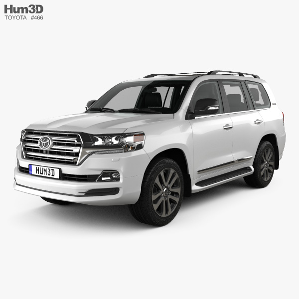Toyota Land Cruiser Excalibur with HQ interior and engine 2017 3D model