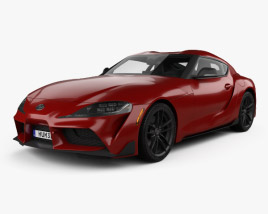 Toyota Supra US-spec with HQ interior 2019 3D model