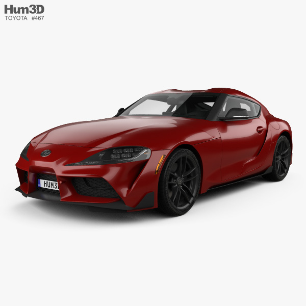 Toyota Supra US-spec with HQ interior 2019 3D model