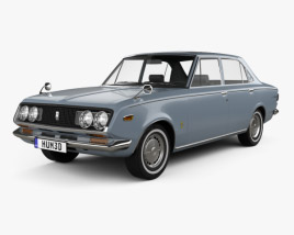 3D model of Toyota Mark II sedan 1968