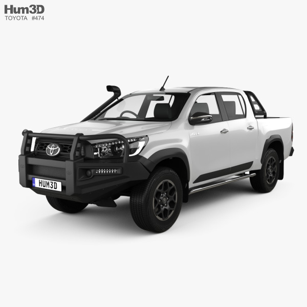Toyota Hilux Double Cab Rugged 2020 3D model