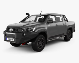 3D model of Toyota Hilux Double Cab Rugged X 2020
