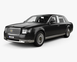 3D model of Toyota Century with HQ interior and engine 2018