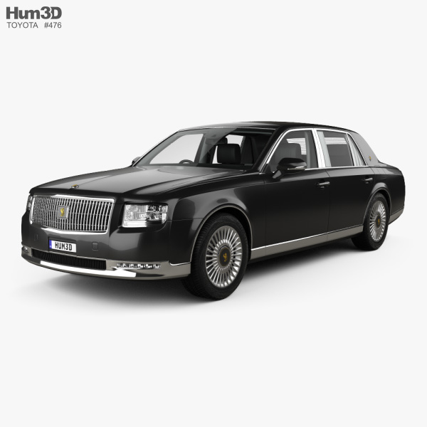 Toyota Century with HQ interior and engine 2018 3D model