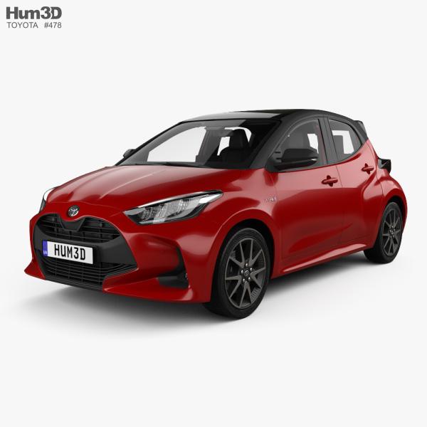 Toyota Yaris hybrid with HQ interior 2020 3D model
