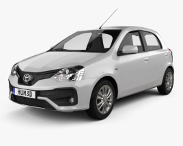 Toyota Etios hatchback 2019 3D model