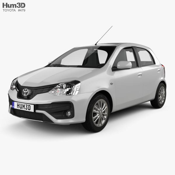Toyota Etios hatchback 2019 3D model