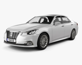 3D model of Toyota Crown Royal Saloon 2013