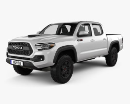 3D model of Toyota Tacoma Double Cab TRD Pro 2020