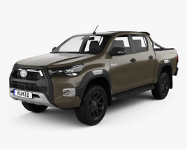3D model of Toyota Hilux Double Cab Invincible 2020