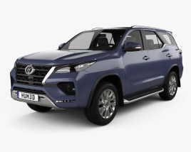 3D model of Toyota Fortuner 2020