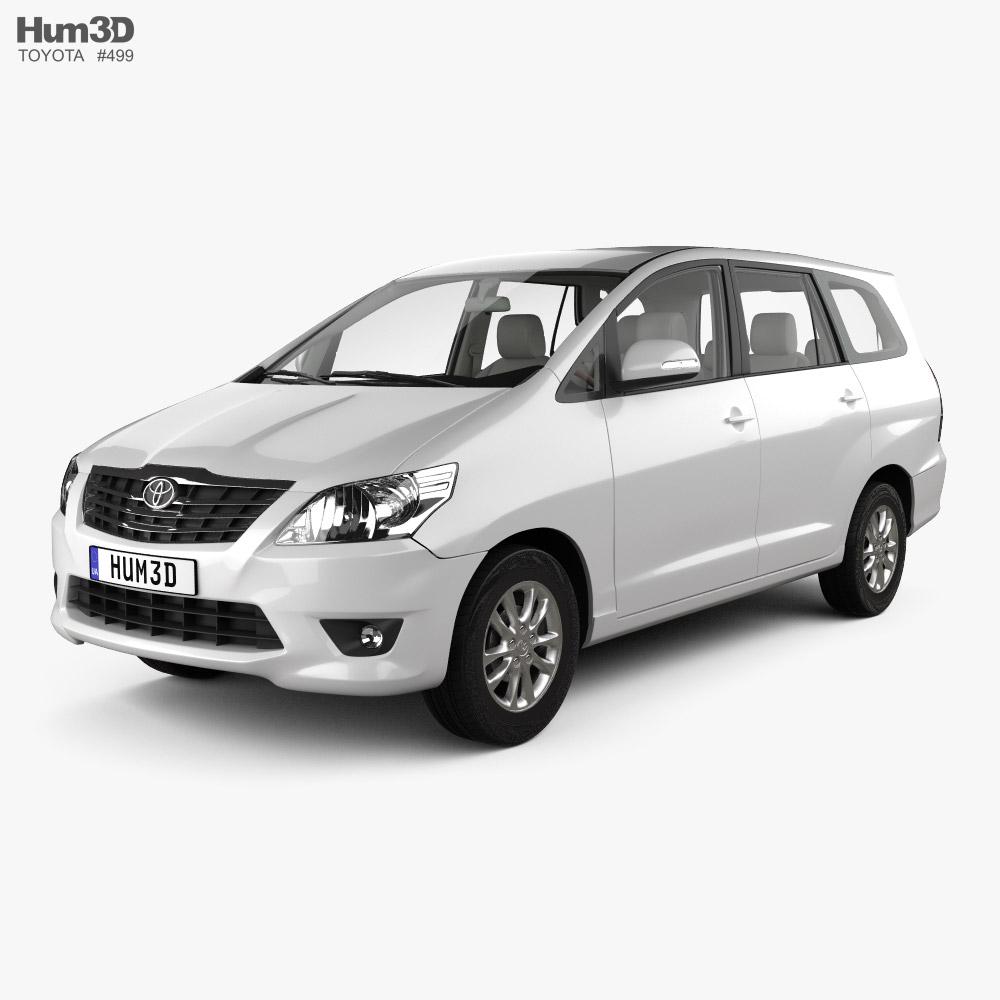 Toyota Innova with HQ interior 2011 3D model